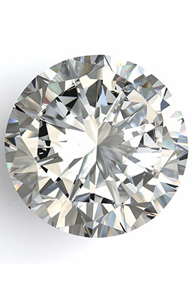 Close up picture of a high quality diamond